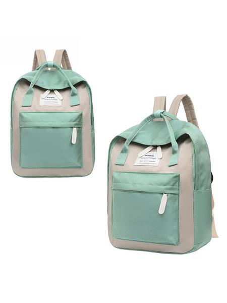Milanoo School Bag Colorblock Backpacks