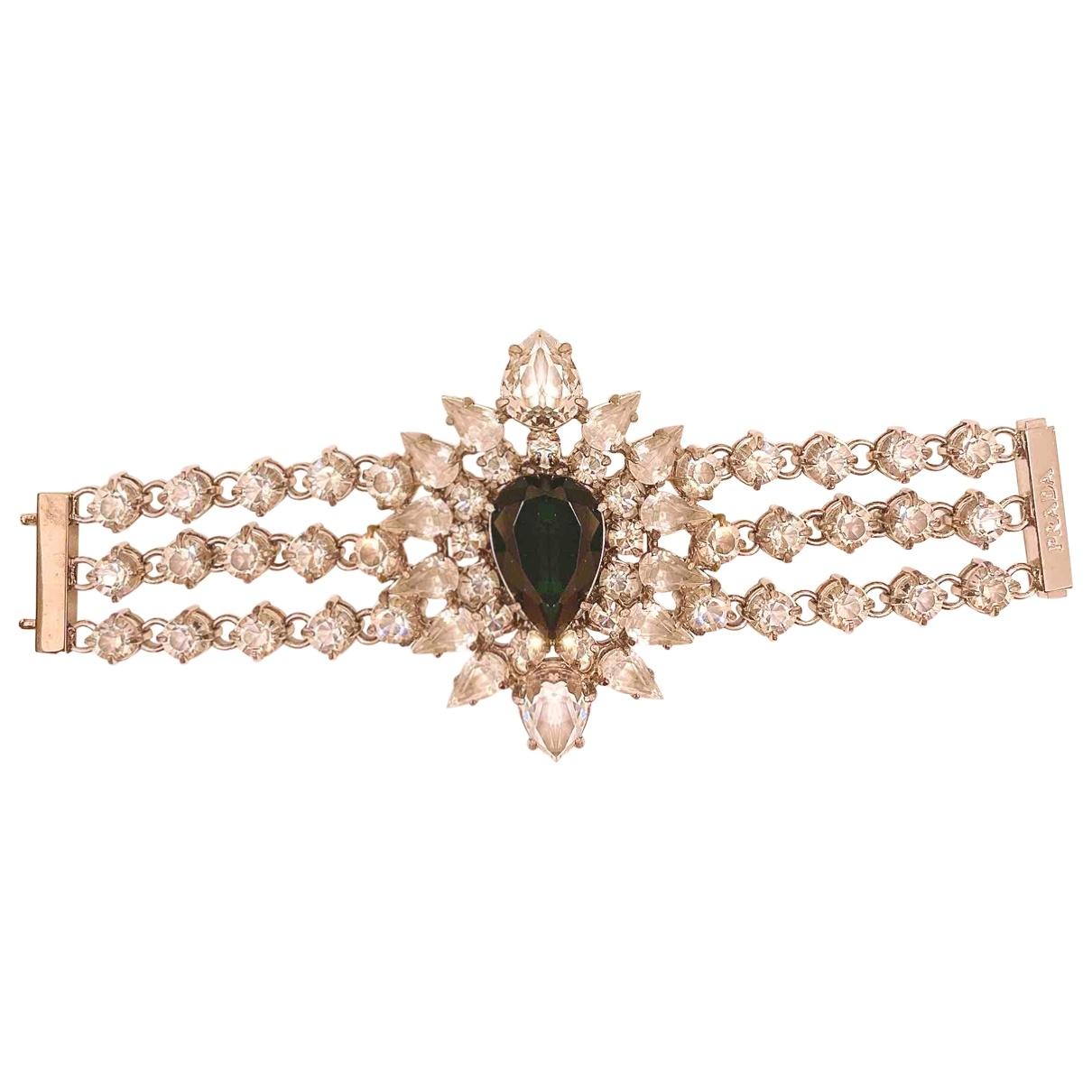 Prada - Bracelet   pour femme en cristal - blanc