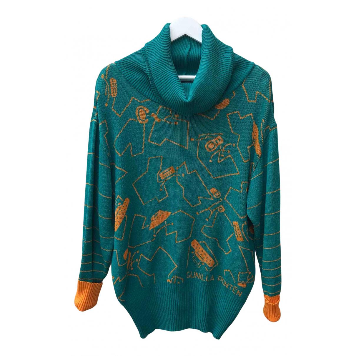 Non Signe / Unsigned \N Pullover in  Gruen Baumwolle