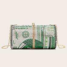 Rhinestone Clutch Bag