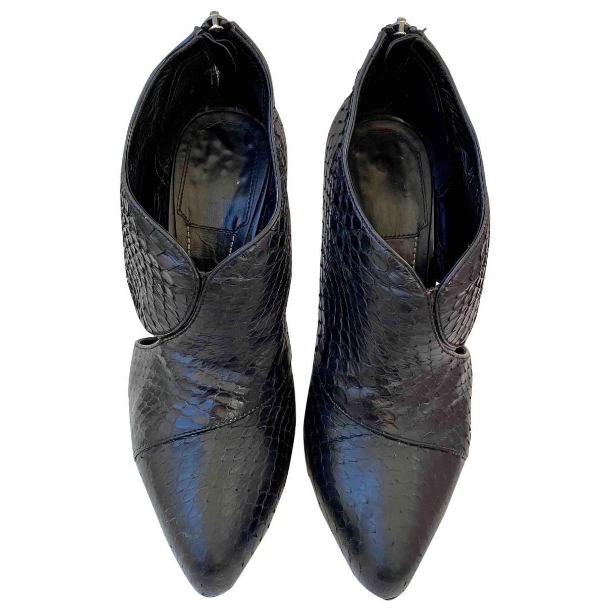 Dior - Boots   pour femme en python - noir
