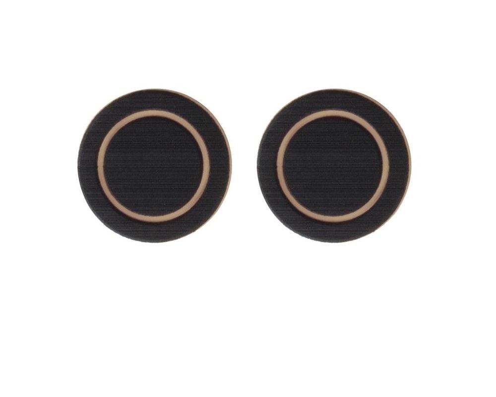 Tufskinz TUN011-FTN-X Rear Fold Down Seat Cup Holder Inserts For 2007-2020 Tundra 2 Piece Kit In Black/Tan