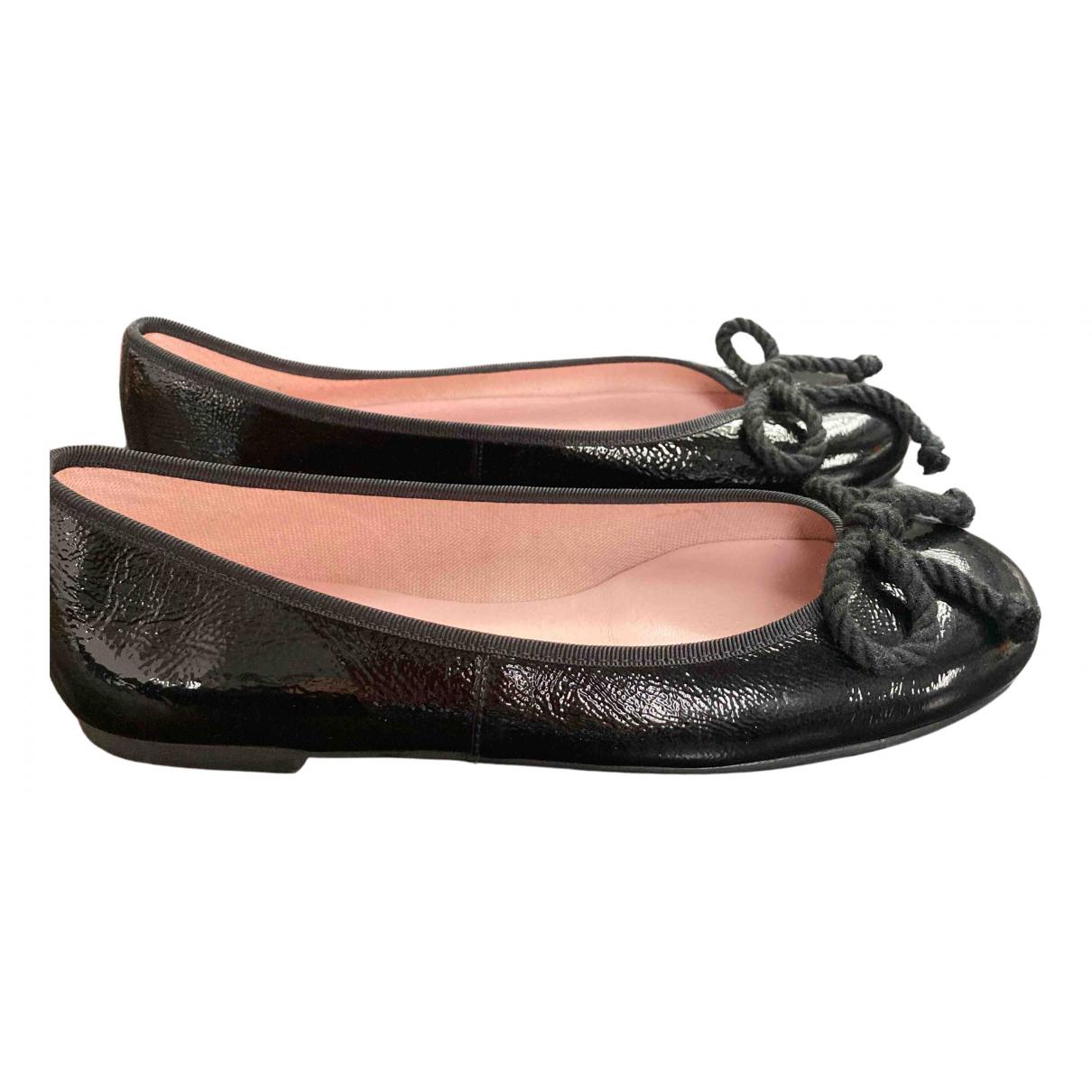 Pretty Ballerinas - Ballerines   pour femme en cuir verni - noir