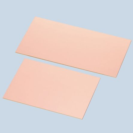 Sunhayato 13, Single-Sided Plain Copper Ink Resist Board FR2 With 35μm Copper Thick, 100 x 200 x 1.6mm