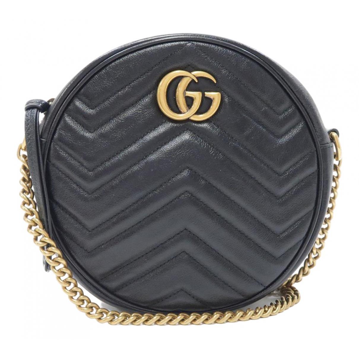 Gucci Marmont Handtasche in  Schwarz Leinen