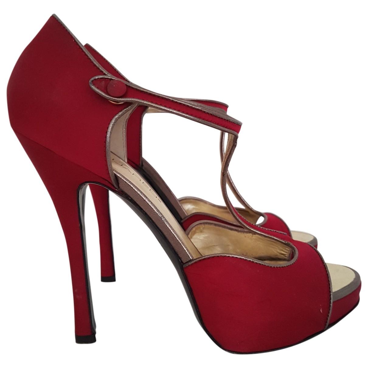 Dsquared2 - Escarpins   pour femme en toile - rouge