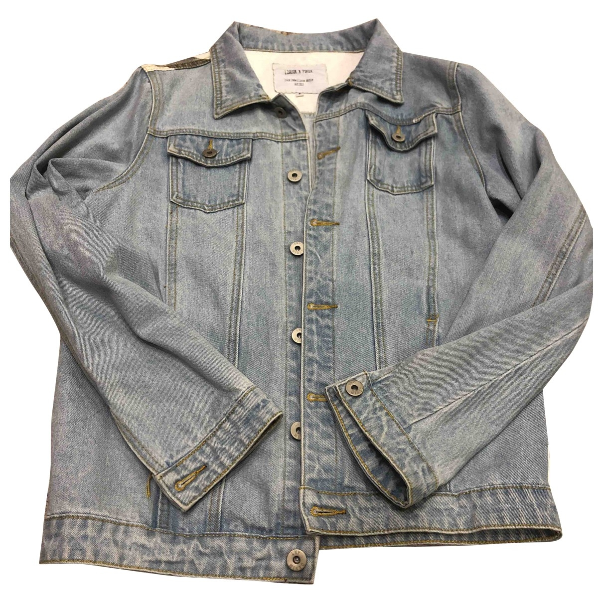 Non Signe / Unsigned \N Jacke in  Blau Denim - Jeans