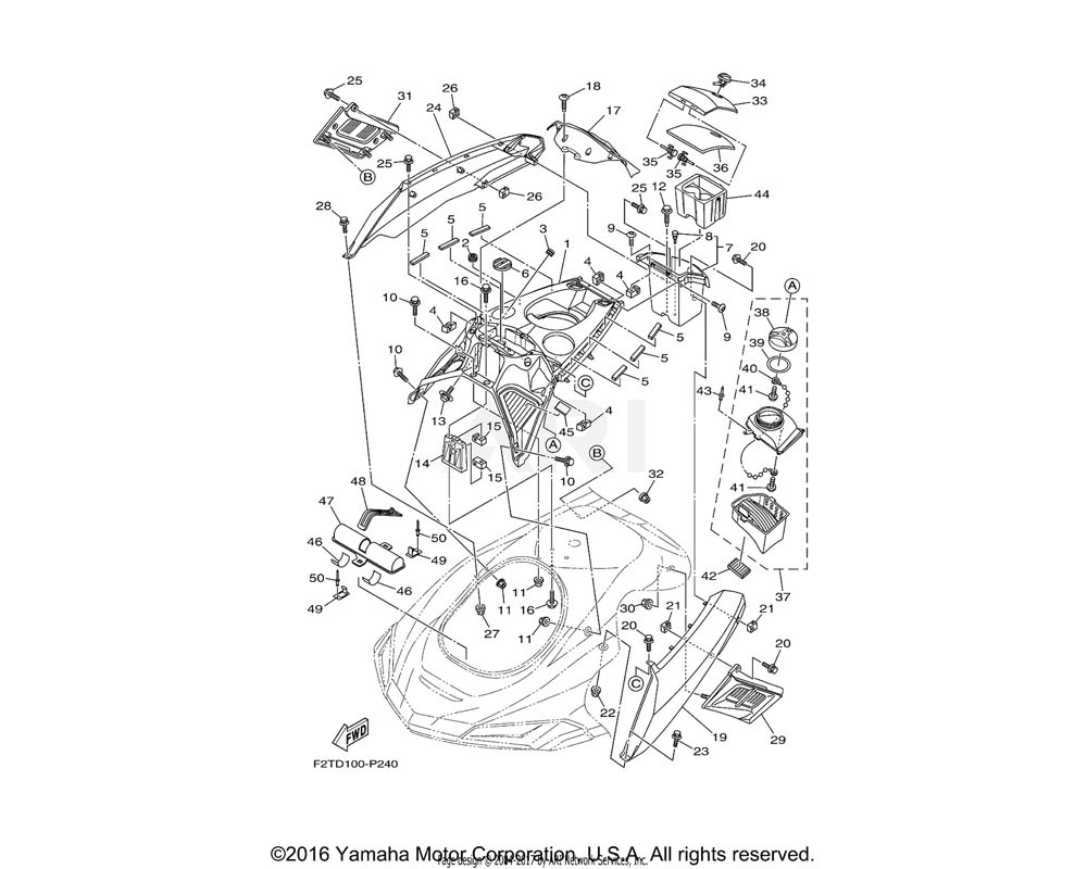 Yamaha OEM F3J-U377B-00-P3 COVER,SIDE 1 (BMG) | FOR BLACK