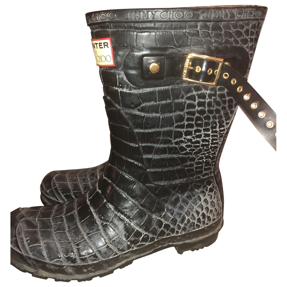 Jimmy Choo - Boots   pour femme en caoutchouc - noir