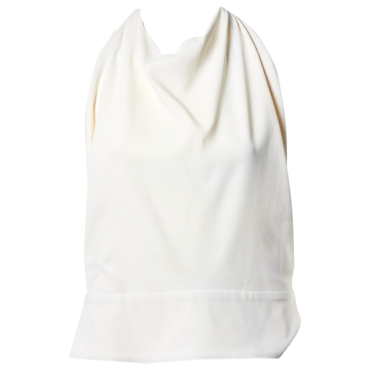 Balenciaga \N Top in  Ecru Seide