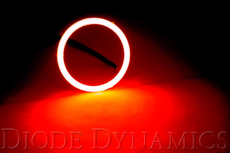 Diode Dynamics DD2048S Halo Lights LED 70mm Red Single
