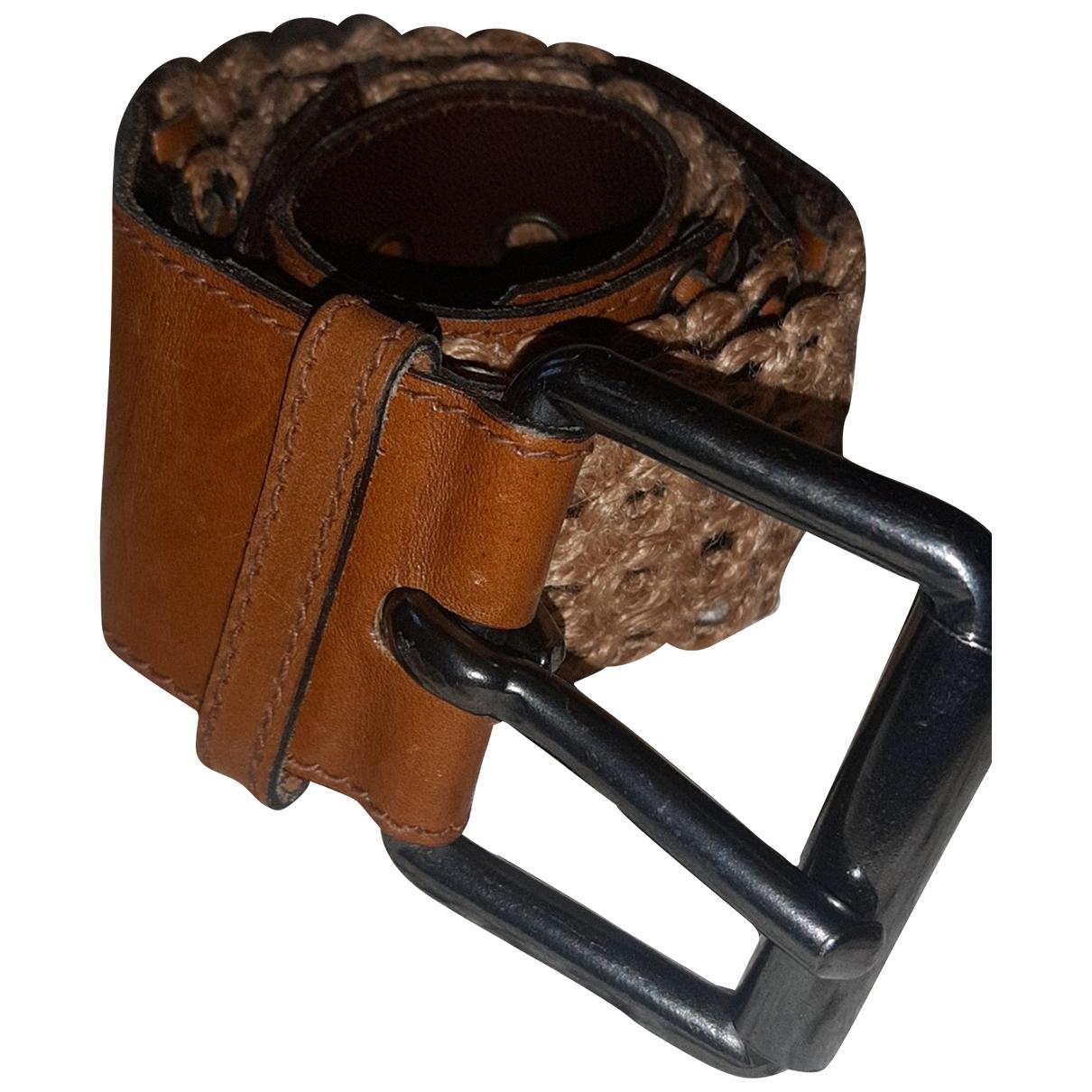 Yves Saint Laurent \N Brown Leather belt for Women 85 cm