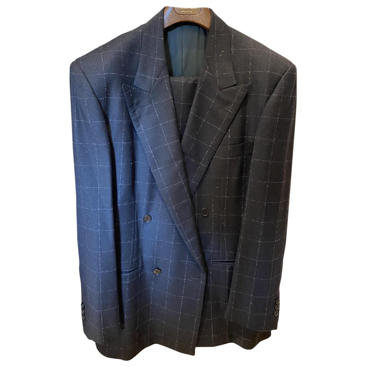 Versace - Costumes   pour homme en laine - bleu