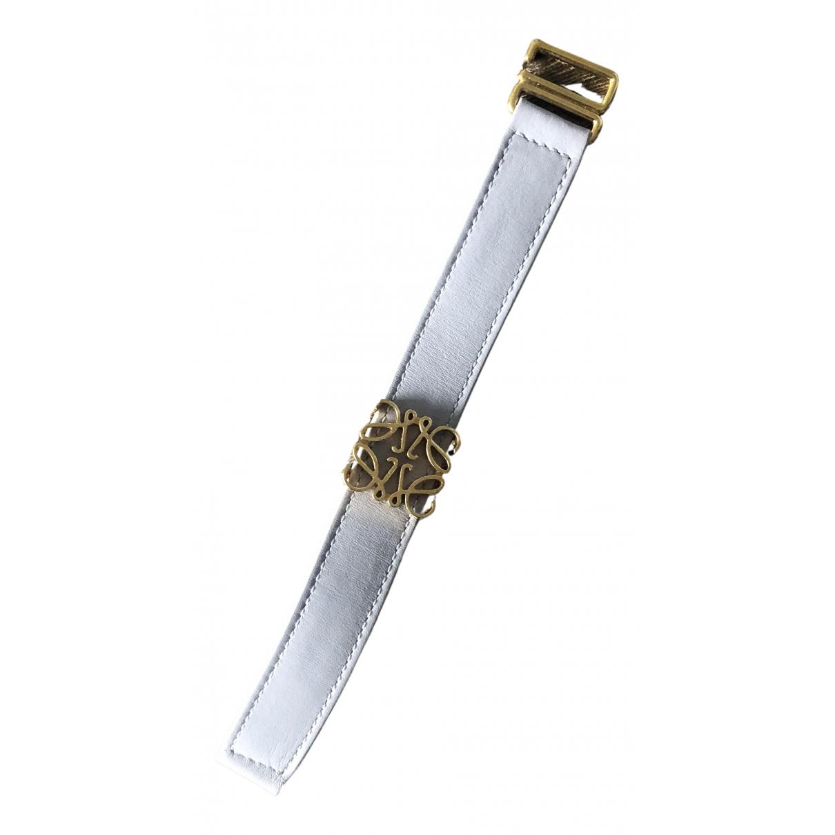 Loewe \N Armband in  Grau Leder