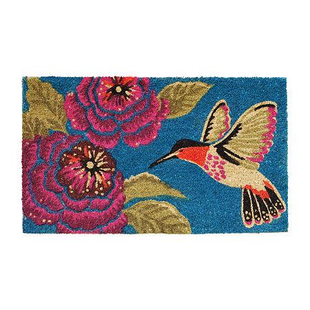 Hummingbird Delight Rectangular Outdoor Doormat, One Size , Multiple Colors
