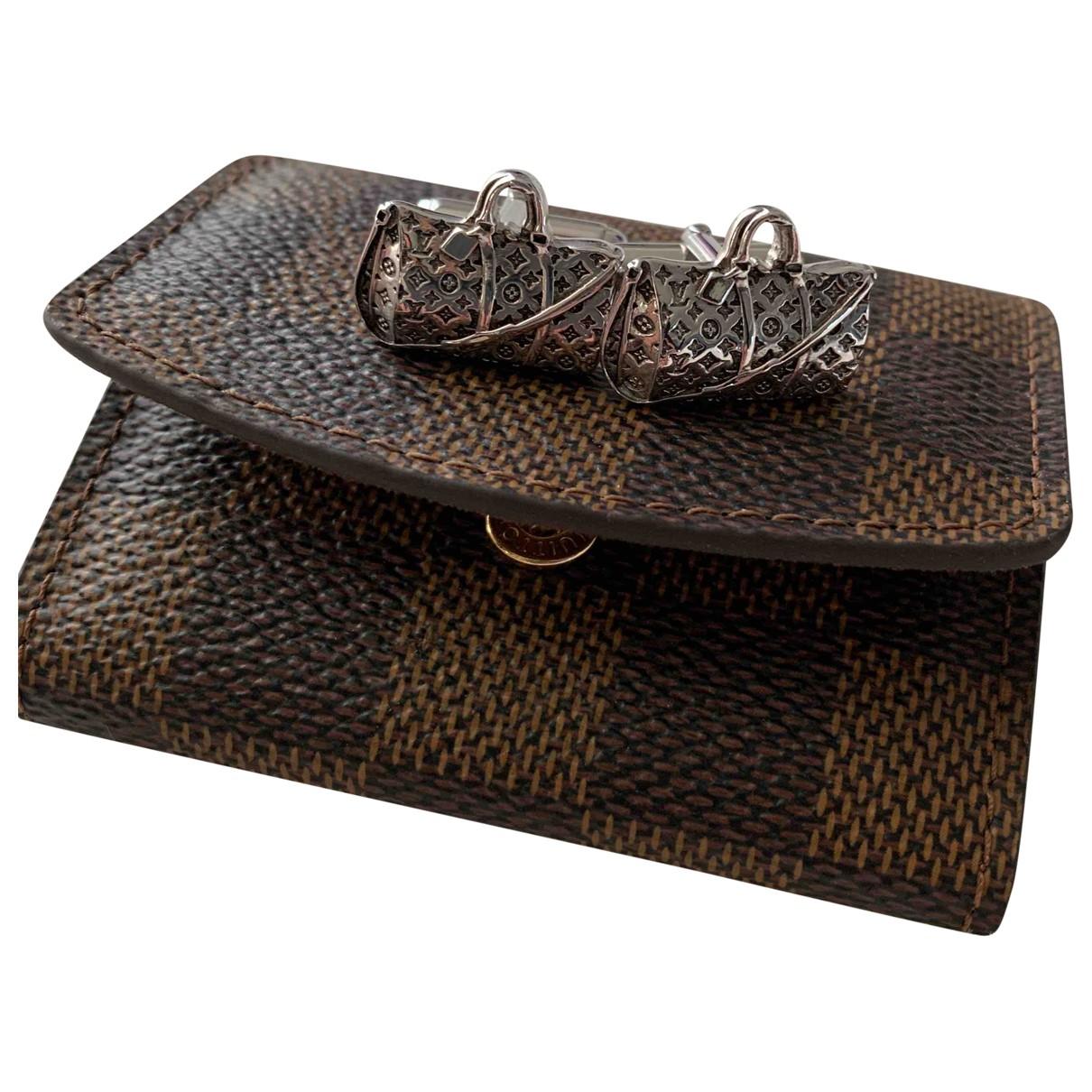 Louis Vuitton - Boutons de manchette   pour homme en argent - argente