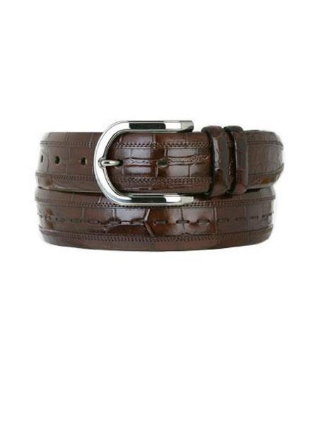 Mezlan Brand Men's Genuine Alligator Sport Skin Belt