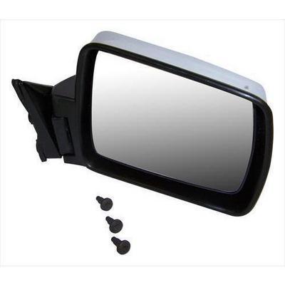 Crown Automotive Chrome Manual Mirror (Black) - 82200315