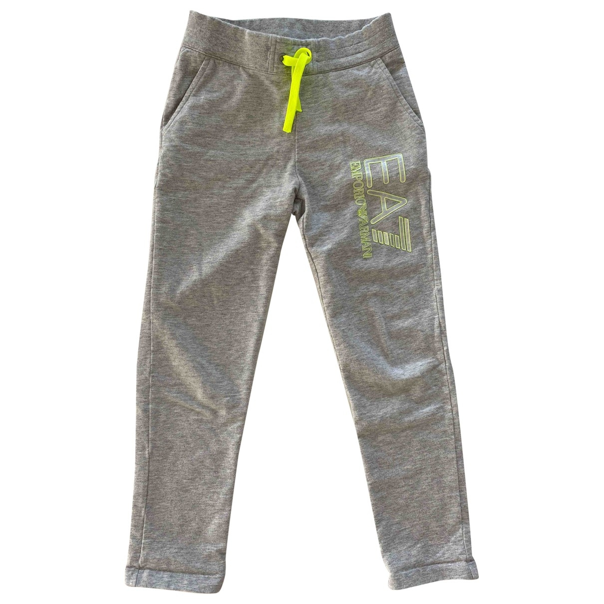 Emporio Armani \N Grey Cotton Trousers for Kids 8 years - up to 128cm FR