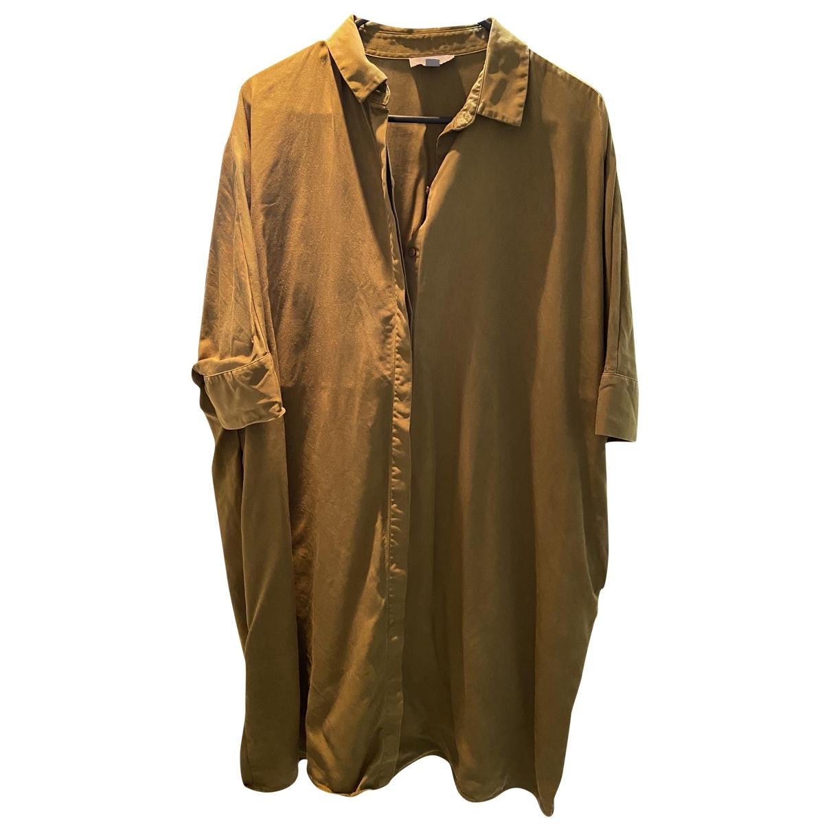 Cos \N Khaki Cotton  top for Women 34 FR