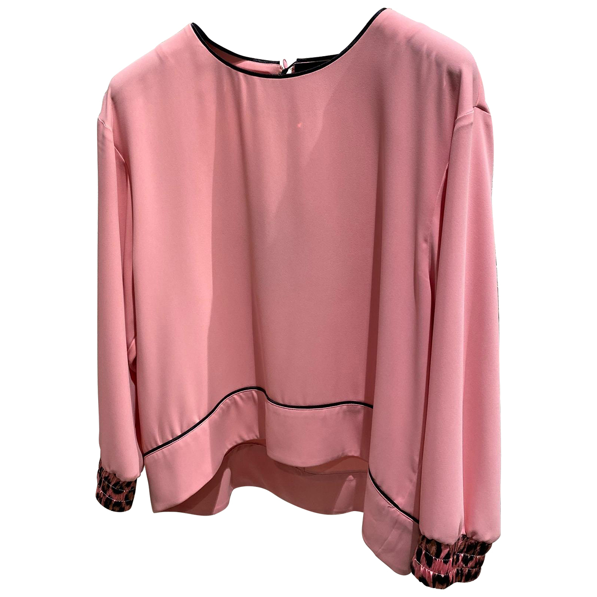 Just Cavalli N Pink Silk  top for Women 40 IT