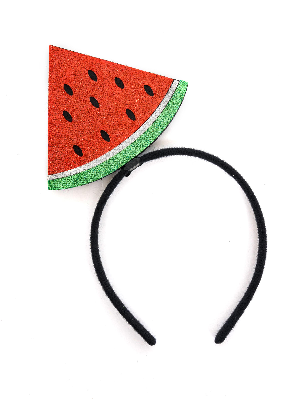Kostuemzubehor Haarreif Scheibe Wassermelone Farbe: rot/gruen