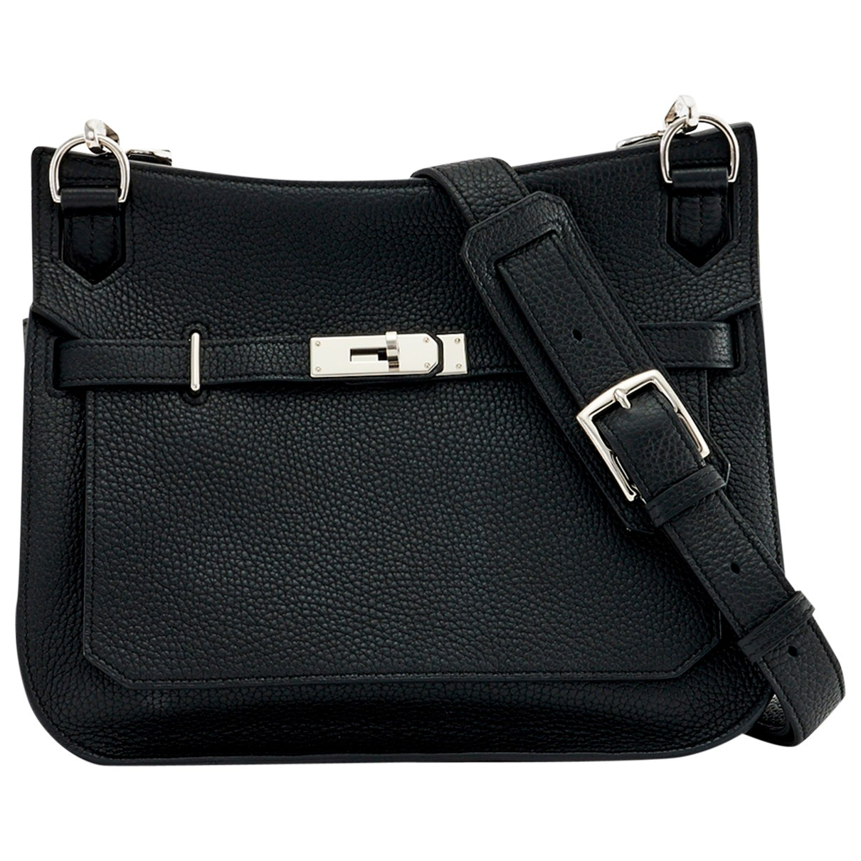 Hermès Jypsiere Black Leather handbag for Women \N