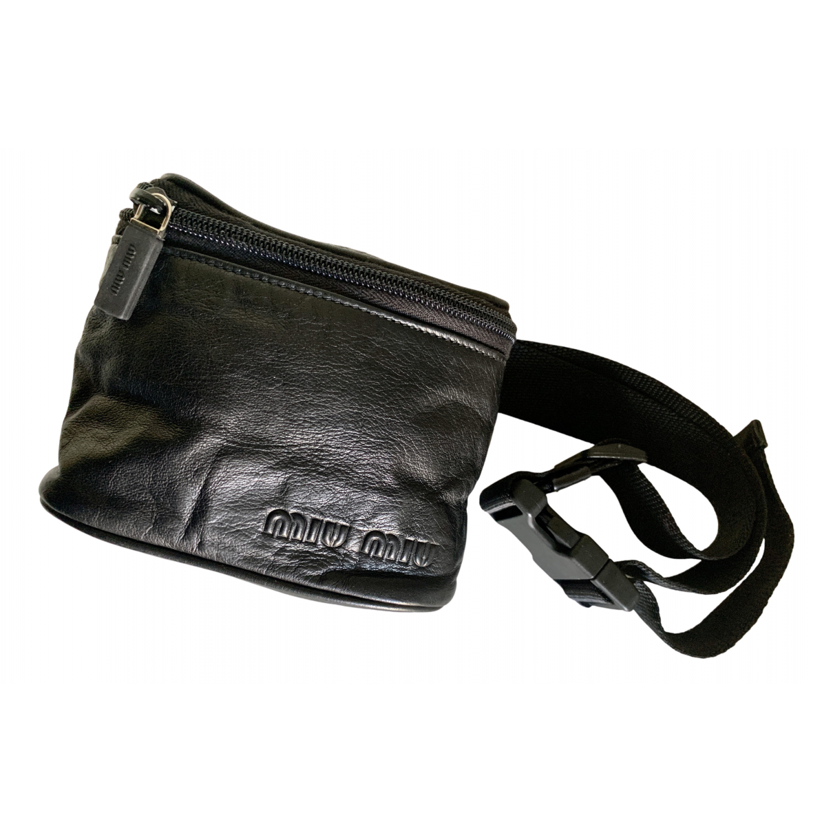 Miu Miu \N Reisetasche in  Schwarz Leder