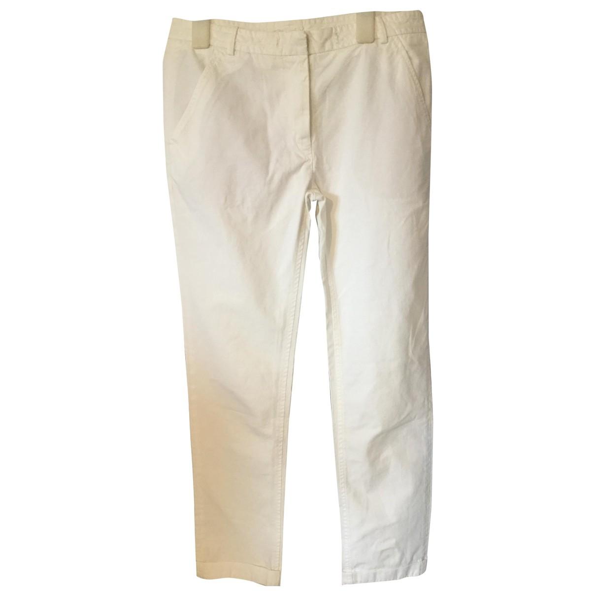Isabel Marant Etoile \N White Cotton Trousers for Women 1 0-5