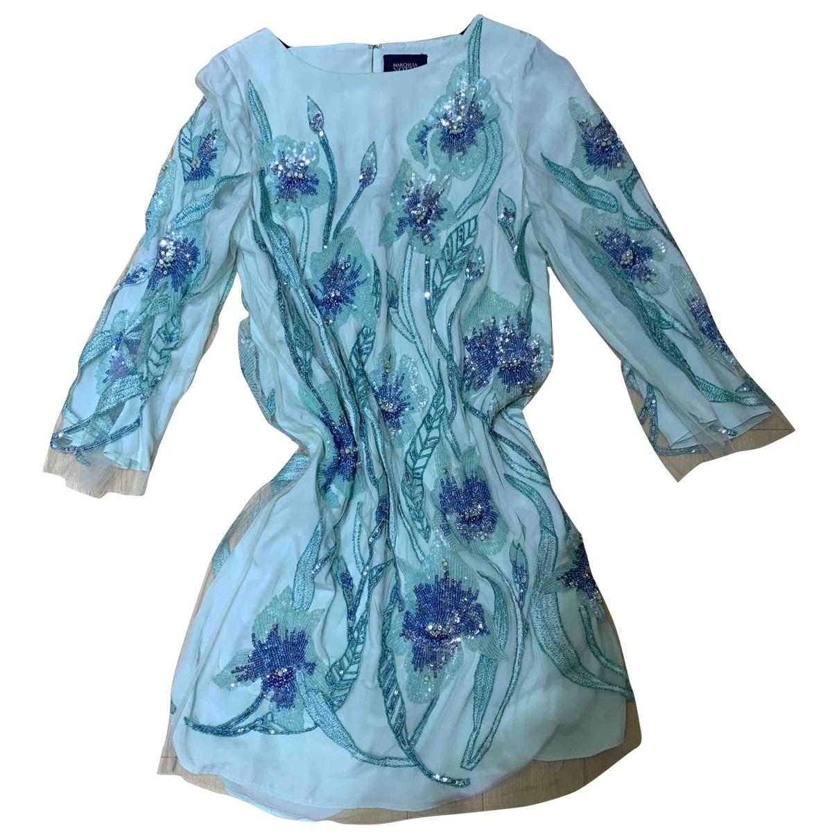 Marchesa Notte - Robe   pour femme - bleu