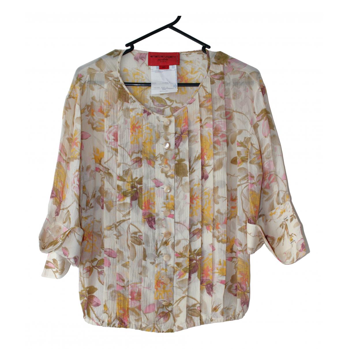 Emanuel Ungaro \N Beige Silk  top for Women 10 UK
