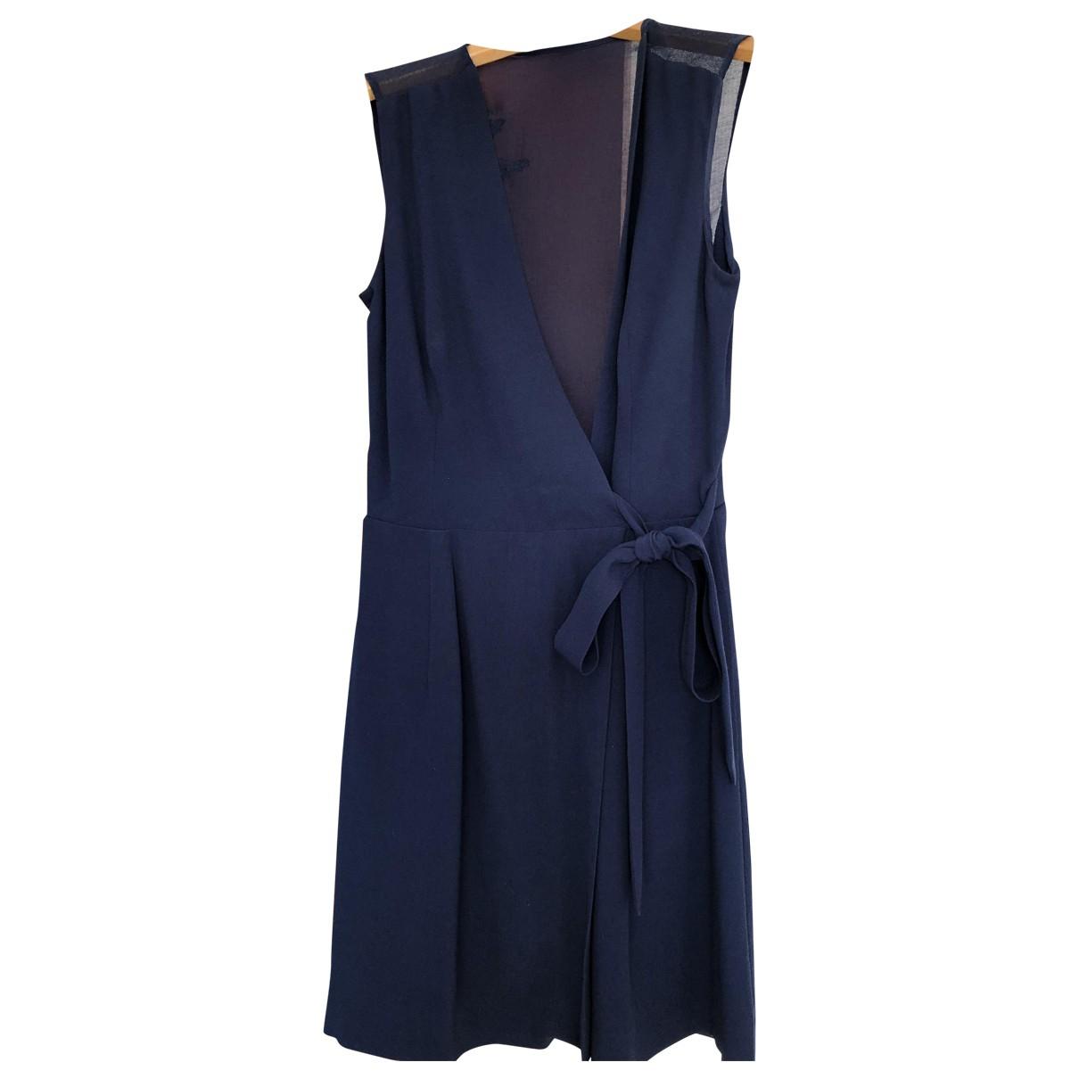 Sandro Spring Summer 2019 Kleid in  Blau Viskose
