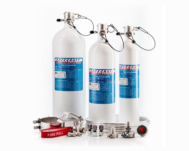 Safecraft Model LT 10lb Push Knob White Fire Extinguishing Kit with Steel Tubing