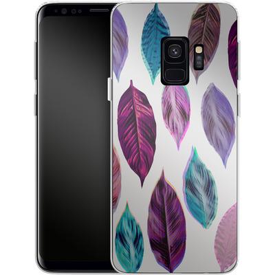 Samsung Galaxy S9 Silikon Handyhuelle - Pink Leaves 2 von Mareike Bohmer