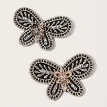 2 Stuecke Haaraufkleber mit Schmetterling Design
