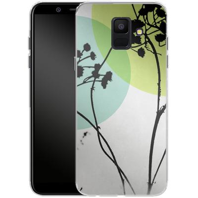 Samsung Galaxy A6 Silikon Handyhuelle - Abstract Flowers 2 von Mareike Bohmer