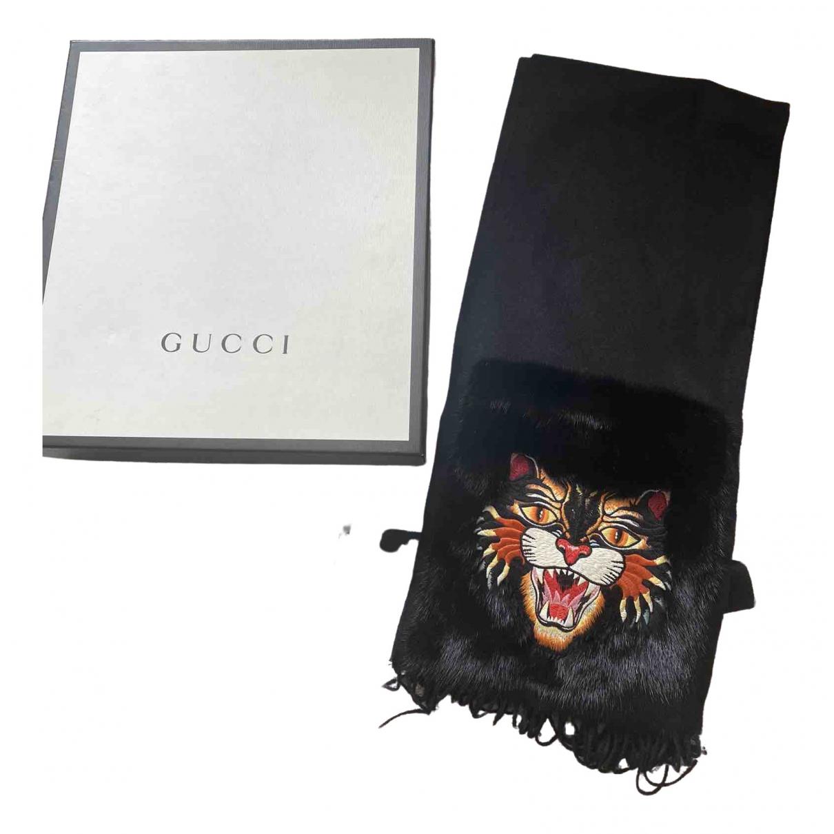Gucci \N Tuecher, Schal in  Schwarz Kaschmir