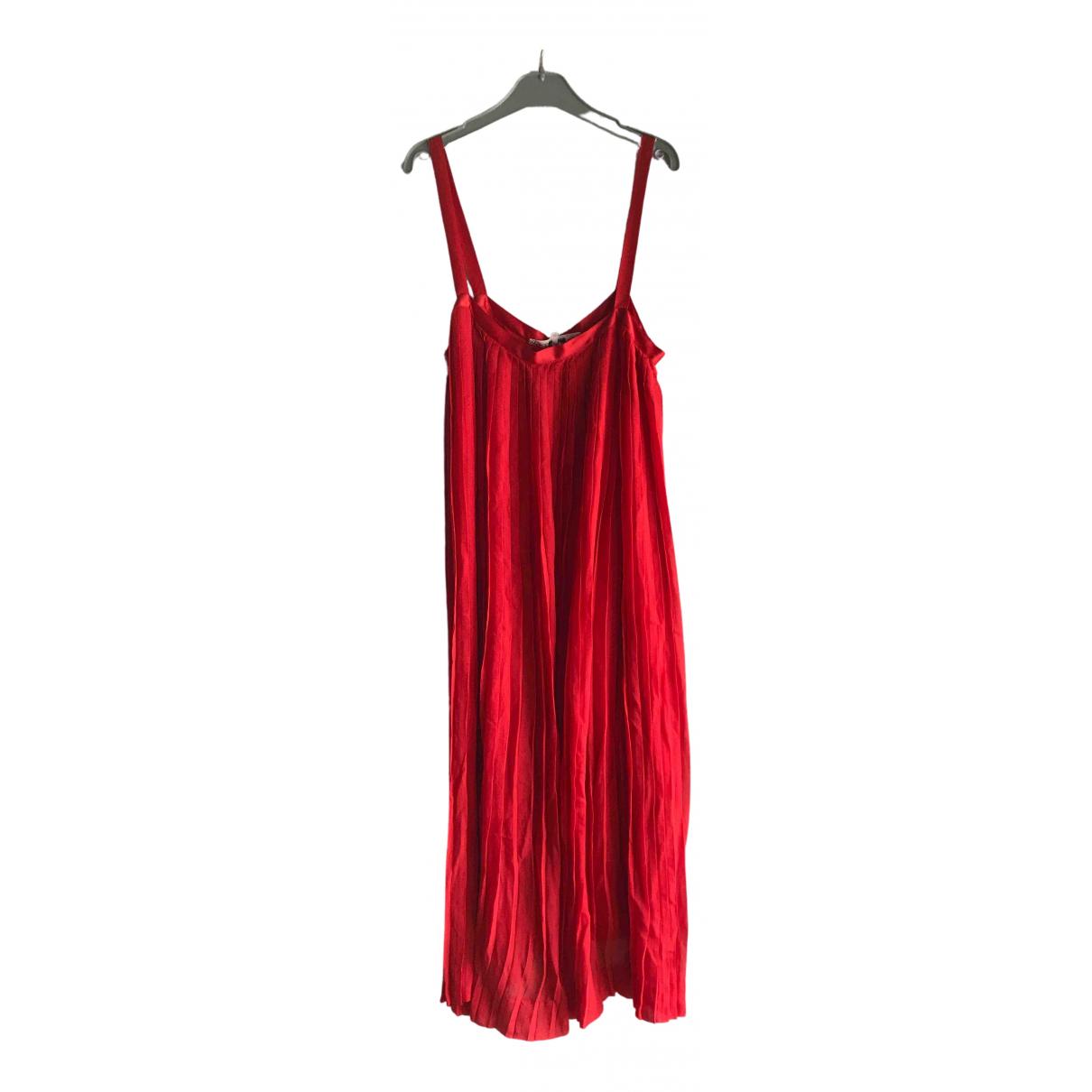Saint Laurent - Robe   pour femme - rouge