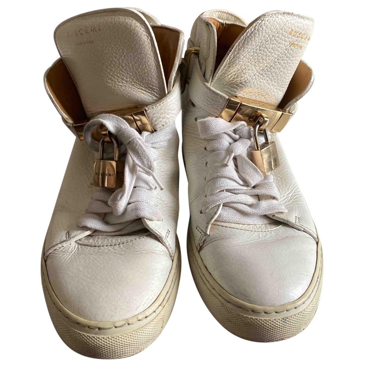 Buscemi \N Sneakers in  Weiss Leder