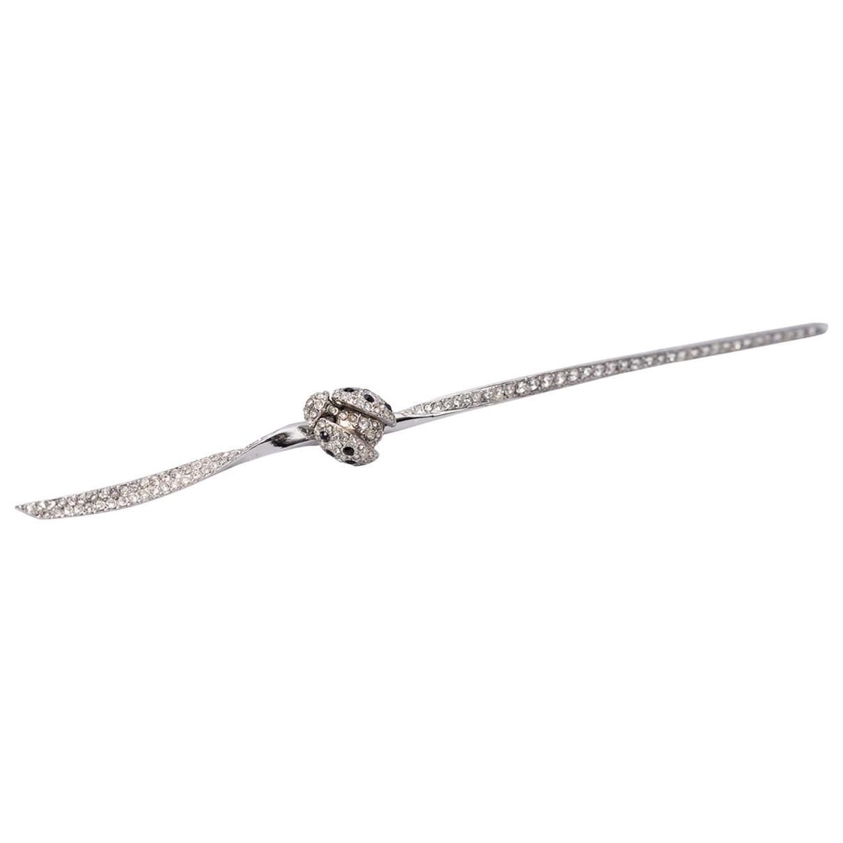 Dior - Broche   pour femme en metal - argente