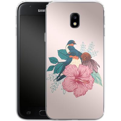 Samsung Galaxy J3 (2017) Silikon Handyhuelle - Barn Swallows von Mat Miller