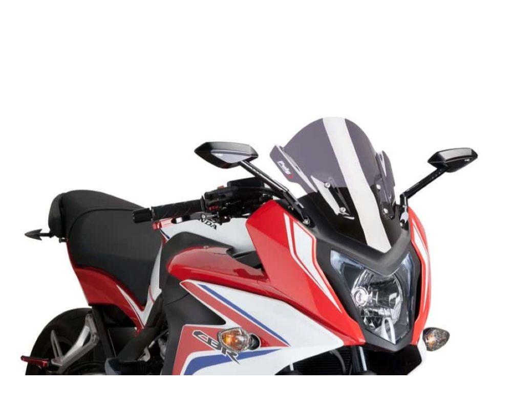 Puig 7003F Z-Racing Windscreen - Dark Smoke Honda CBR650F 2014