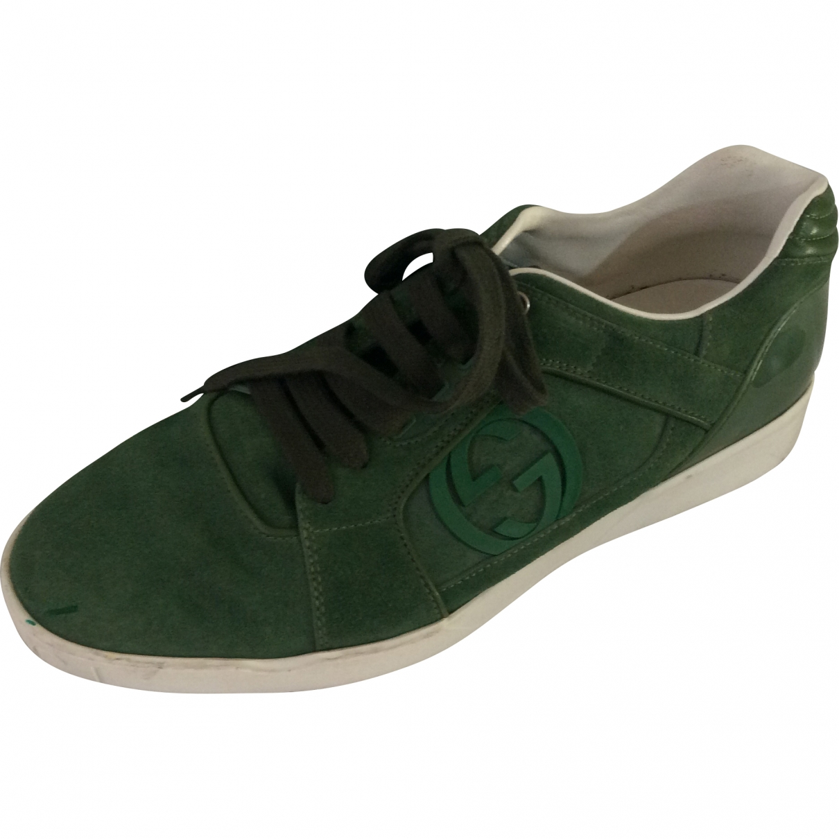 Gucci \N Green Suede Trainers for Men 9 UK
