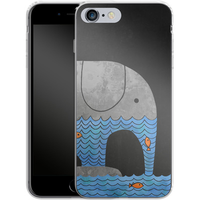 Apple iPhone 6 Plus Silikon Handyhuelle - Thirsty Elephant von Terry Fan