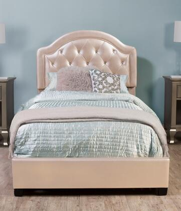 Karley Collection 2122BFR Full Size Bed with Headboard  Footboard  Rails  Faux Leather Upholstery  Button Tufting and Wood Frame Construction in