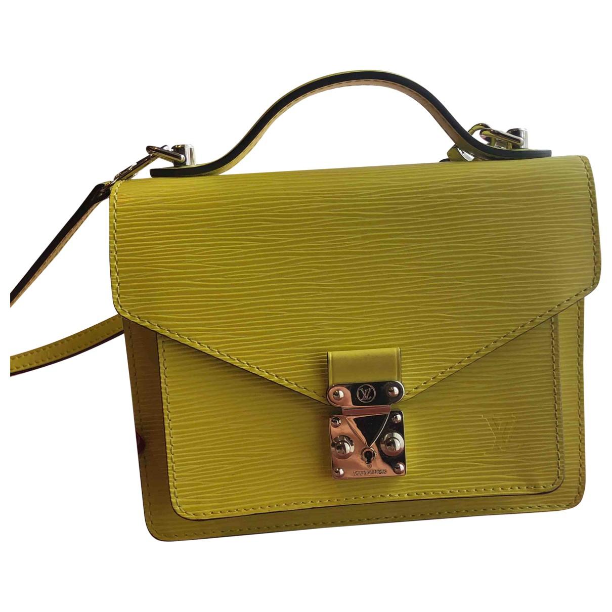 Louis Vuitton - Sac a main   pour femme en cuir - jaune