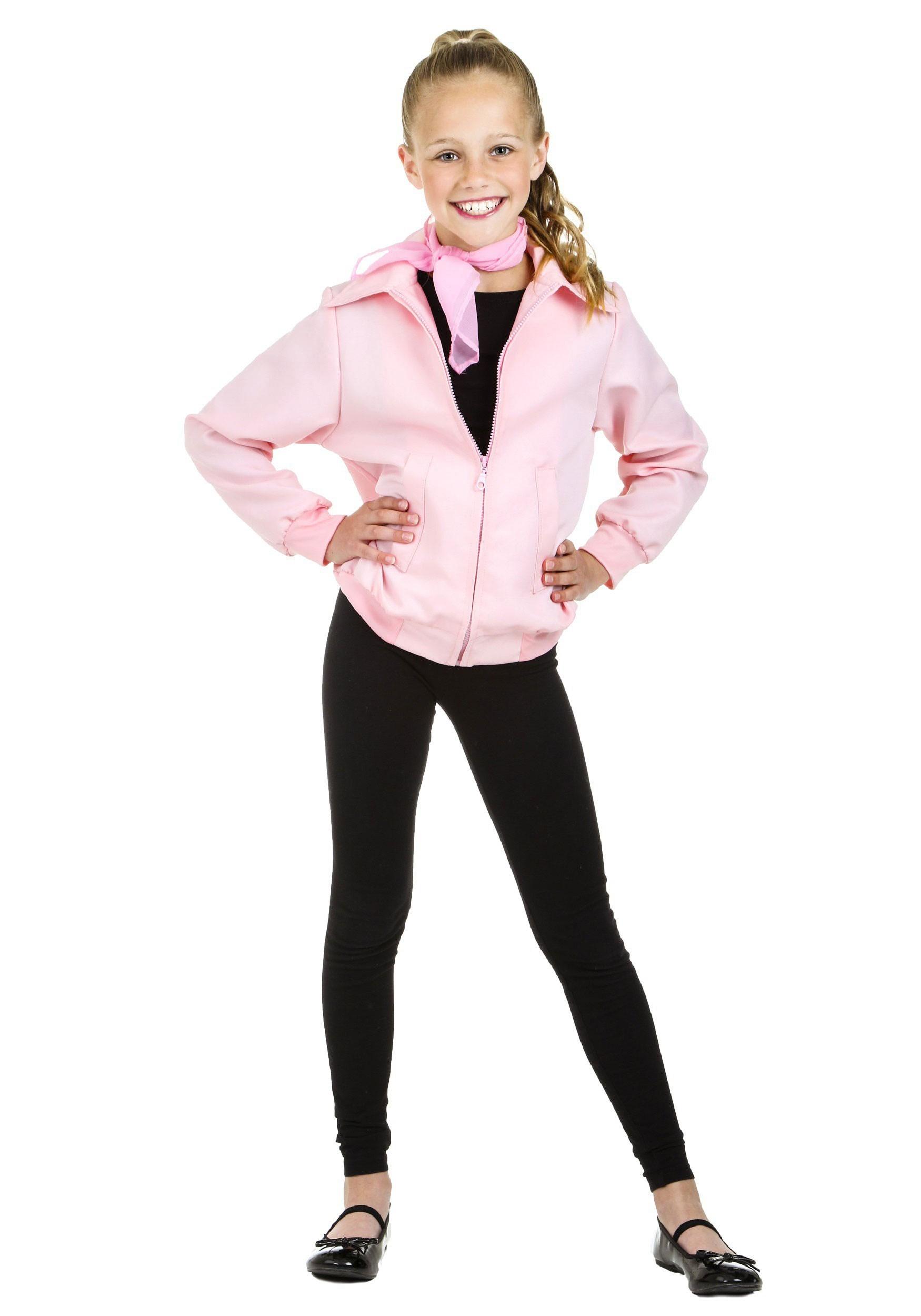 Child Deluxe Pink Ladies Jacket Costume