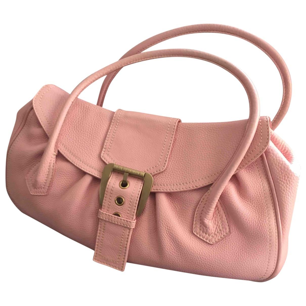 Celine \N Pink Leather handbag for Women \N