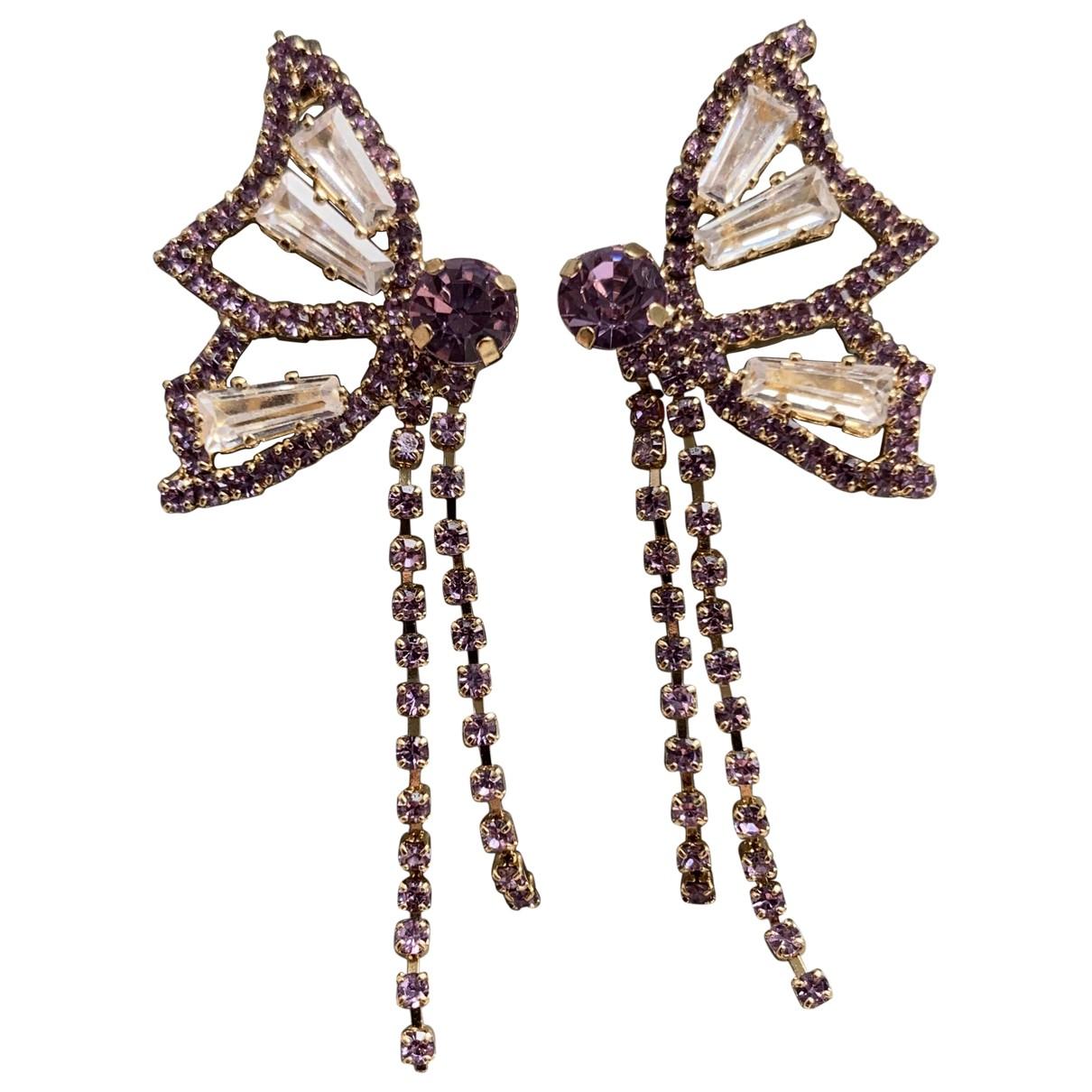 - Boucles doreilles Motifs Animaliers pour femme en metal - violet