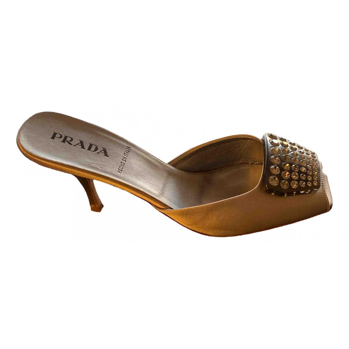 Prada - Sandales   pour femme en toile - gris